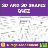 2D and 3D Shapes Quiz