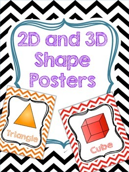 2D and 3D chevron shape posters