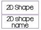 2D and 3D shape fun! Geometry Unit