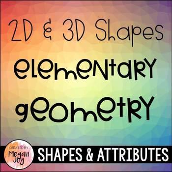 Geometry: 2D & 3D Shapes Bundle