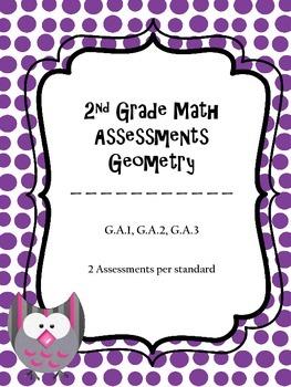 2.G Assessments - 2nd Grade Geometry Math Assessments - 2