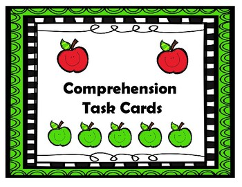 First Grade Comprehension Task Cards Aligned to the Americ
