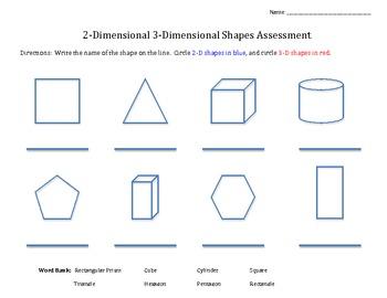 2.G.1  2-D and 3-D shape assessment