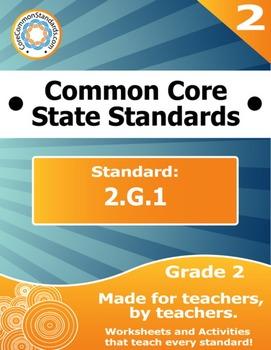 2.G.1 Second Grade Common Core Bundle - Worksheet, Activit