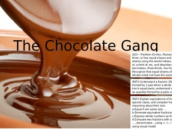 2G3, 3NF1, 3NF3  The Chocolate Gang - A Sharing Activity