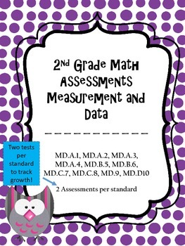 2.MD Assessments - 2nd Grade MD Math Assessments - 2 tests