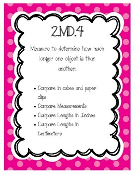 2.MD.4 Unit Bundle - 4 activities and 1 assessment to supp