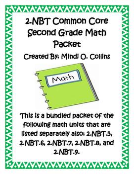 2.NBT (5-9) Common Core Second Grade Math Packet