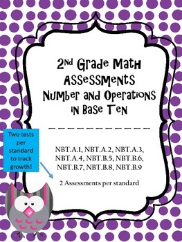 2.NBT Assessments - 2nd Grade NBT Assessments - 2 Tests pe