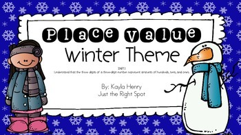 2.NBT.1  Place Value Winter Theme