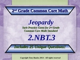 2.NBT.3 Jeopardy Game 2nd Grade Math 2 NBT.3 Read And Writ