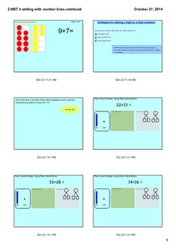 2.NBT.5 Adding 2 digit Numbers using Place Value and Number Lines