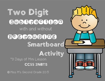 2NBT5 Two Digit Subtraction Smartboard Activity