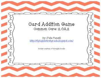 2.OA.2 Card Addition Center