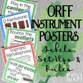 #FunintheSun Orff Instrument Posters: Labels, Set-Ups, and Rules