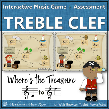 Where's the Treasure? Treble Clef Interactive Game and Assessment