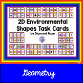 2D Environmental Shapes Task Cards