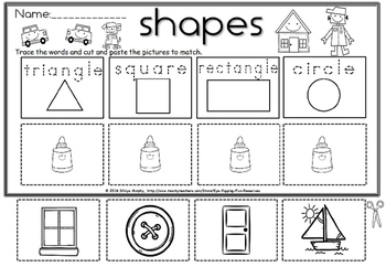 2d shapes cut and paste