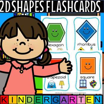 2d shapes flash cards(50% off for 48 hours)