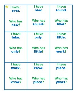 "2nd 100 Fry Words ""I Have, Who Has?"" Task Cards"