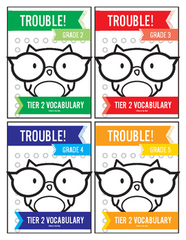 2nd, 3rd, 4th and 5th Grade Tier 2 Vocabulary Trouble Combo Pack