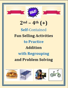 Real World Money Activities: Addition with Regrouping
