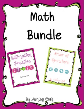 2nd-4th grade mini Math Bundle