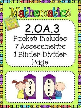 2nd Grade 2.OA.3 Math Assessments