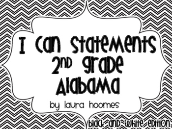 2nd Grade ALABAMA Black and White Standards