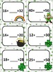 St. Patrick's Day Double Digit Addition Subtraction Cards