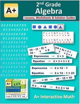 2nd Grade Algebra Lessons, Worksheets, Solution Manuals