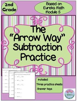 "2nd Grade ""Arrow Way"" Subtraction Practice Based on Eureka"