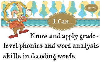 2nd Grade CCSS I Can Statement Cards - ELA - Reading Found
