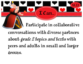 2nd Grade CCSS I Can Statement Cards - ELA - SPEAKING AND