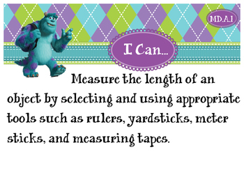 2nd Grade CCSS I Can Statement Cards - Math - Measurement