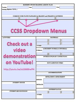 2nd Grade CCSS Lesson Plan Template