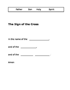 2nd Grade Catholic Prayers - fill in the blank
