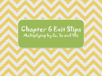 2nd Grade Chapter 6 Math in Focus Daily Exit Slip