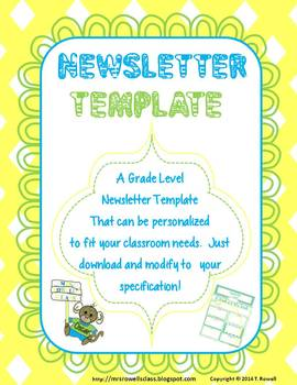 2nd Grade Colorful Newsletter
