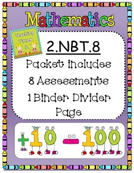 2nd Grade Common Core  2.NBT.8 Math Assessments/Practice