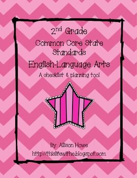 2nd Grade Common Core Checklist | English-Language Arts