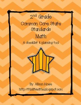 2nd Grade Common Core Checklist   Math
