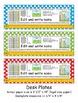 2nd Grade Common Core Desk Plates: Dots: Editable
