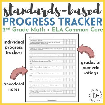 2nd Grade Common Core Standard Based Gradebook for Grades