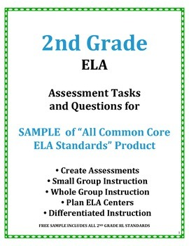 2nd Grade Common Core ELA Assessment Questions and Tasks F