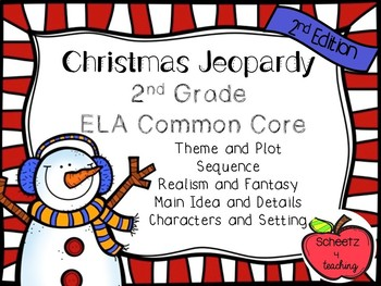 ELA Jeopardy Game - Holiday 2nd Edition