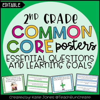 2nd Grade Common Core {Essential Questions & Learning Goal