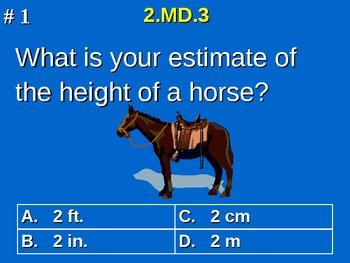 2nd Grade Common Core Math 2 MD.3 Estimate Lengths Using U