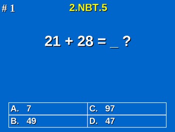 2nd Grade Common Core Math 2 NBT.5 Add & Subtract Within 1