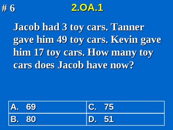2nd Grade Common Core Math 2 OA.1 Addition and Subtraction